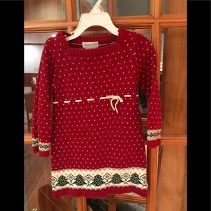 Adorable girls holiday sweater dress